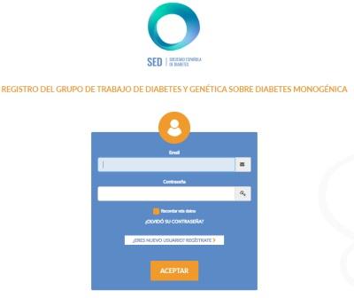 SED: Registro sobre Diabetes Monogénica